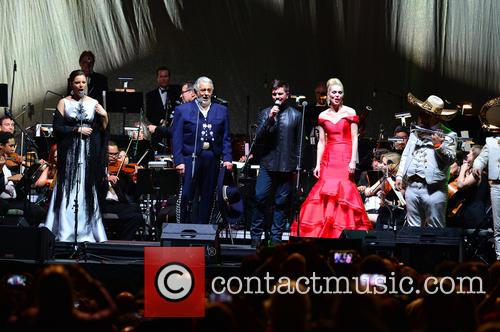 Virginia Tola, Placido Domingo, Juanes, Micaela Oeste and Mariachi Si Senor 8