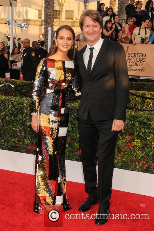 Alicia Vikander and Tom Hooper 4