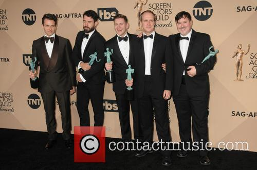 Kevin Doyle, Julian Ovenden, Allen Leech and Jeremy Swift 1