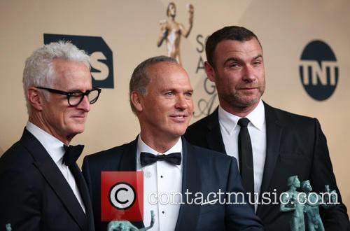 John Slattery, Michael Keaton and Liev Schreiber 1