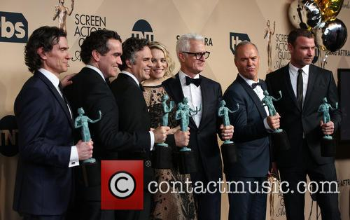 Billy Crudup, Brian D'arcy James, Mark Ruffalo, Rachel Mcadams, John Slattery, Michael Keaton and Liev Schreiber 4