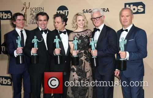 Billy Crudup, Brian D'arcy James, Mark Ruffalo, Rachel Mcadams, John Slattery, Michael Keaton and Liev Schreiber 9