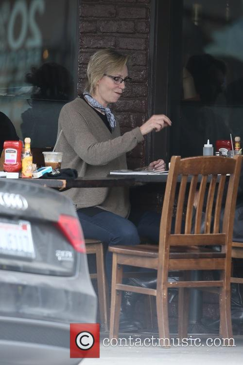 Jane Lynch and friend seen having coffee