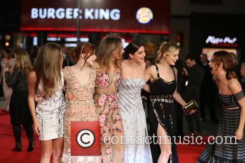 Ellie Bamber, Millie Brady, Bella Heathcote and Lily James 2