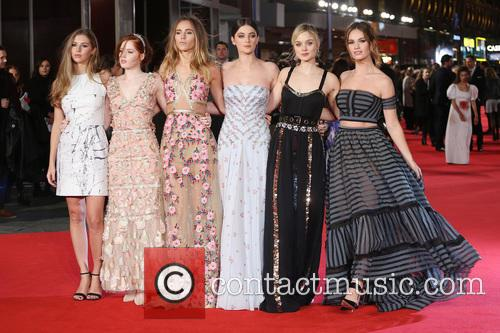 Hermione Corfield, Ellie Bamber, Suki Waterhouse, Millie Brady, Bella Heathcote and Lily James 9