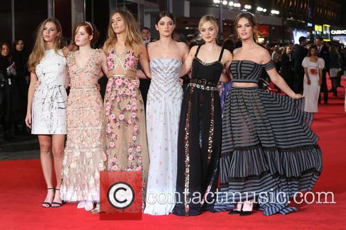 Hermione Corfield, Ellie Bamber, Suki Waterhouse, Millie Brady, Bella Heathcote and Lily James 10
