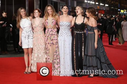 Hermione Corfield, Ellie Bamber, Suki Waterhouse, Millie Brady, Bella Heathcote and Lily James 11