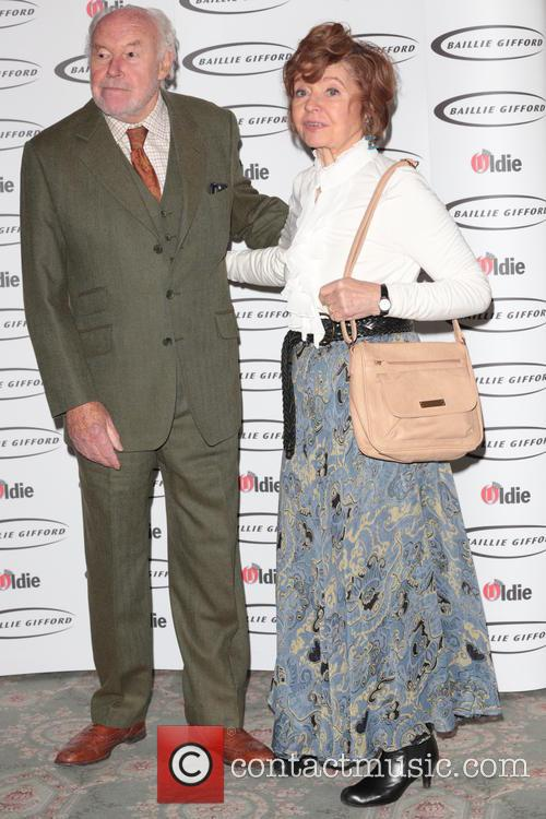 Prunella Scales (winner - Bargees Of The Year) and Timothy West 1