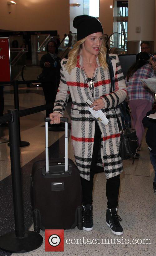 Brittany Snow arrives on a flight to Los...