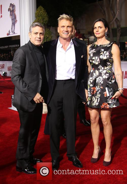 George Clooney, Dolph Lundgren and Jenny Sandersson 1
