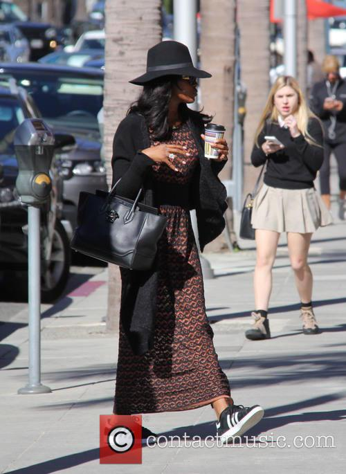 Naomi Campbell arriving at Anastasia Beverly Hills salon