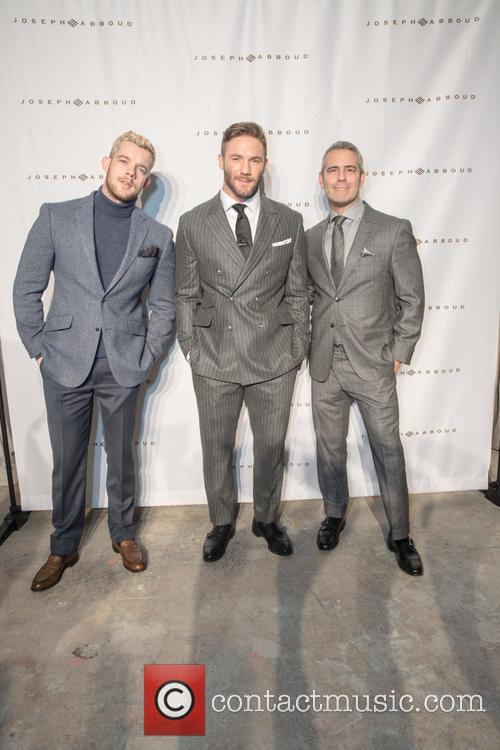 Russell Tovey, Julian Edelman and Andy Cohen 1