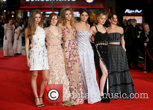 Hermione Corfield, Ellie Bamber, Suki Waterhouse, Millie Brady, Bella Heathcote and Lily James 2
