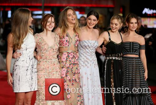 Hermione Corfield, Ellie Bamber, Suki Waterhouse, Millie Brady, Bella Heathcote and Lily James 4