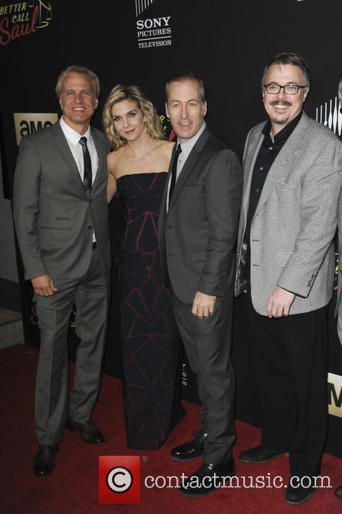Patrick Fabian, Bob Odenkirk, Rhea Seehorn and Vince Gilligan 1