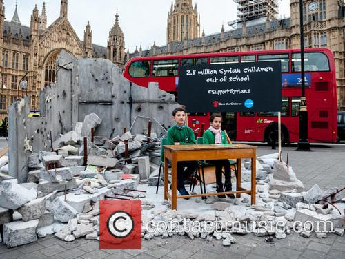 Charity sets up destroyed classroom opposite Parliament ahead...