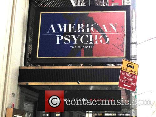 American Psycho Musical Marquee Installation
