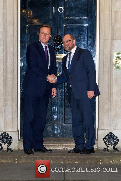 David Cameron meets with David Shulz in Downing...