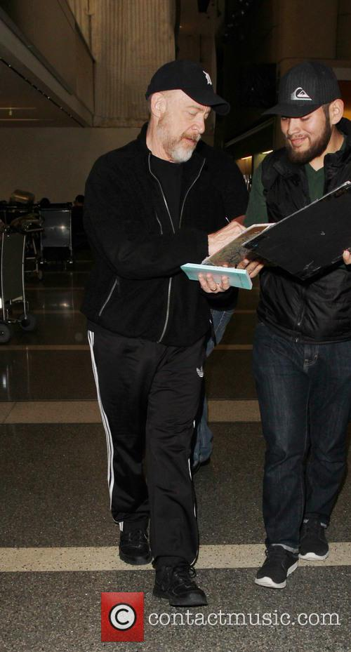 J. K. Simmons departs from Los Angeles International...