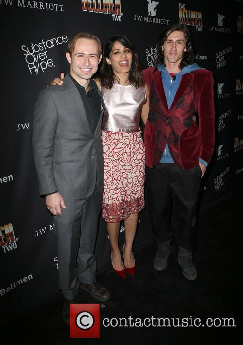 Caine Sinclair, Freida Pinto and William Spencer 1
