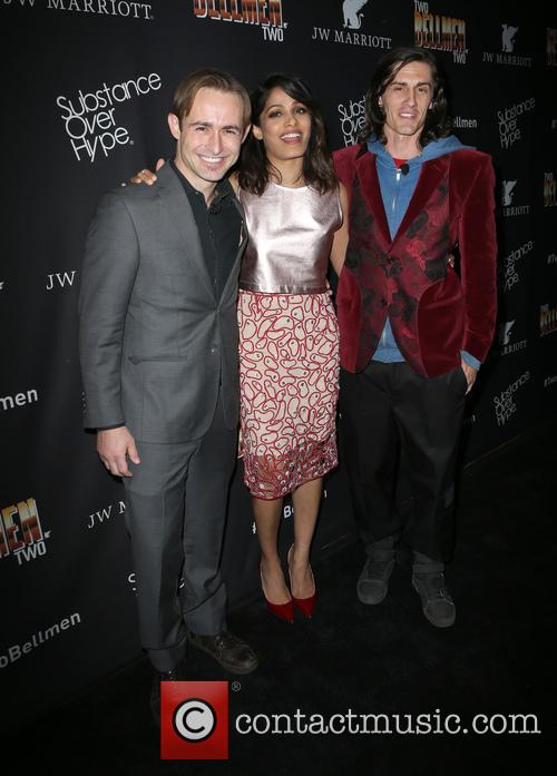 Caine Sinclair, Freida Pinto and William Spencer 2