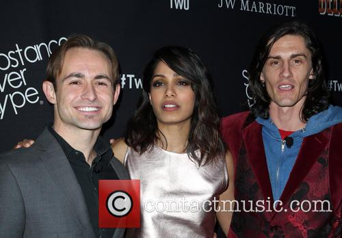 Caine Sinclair, Freida Pinto and William Spencer 3