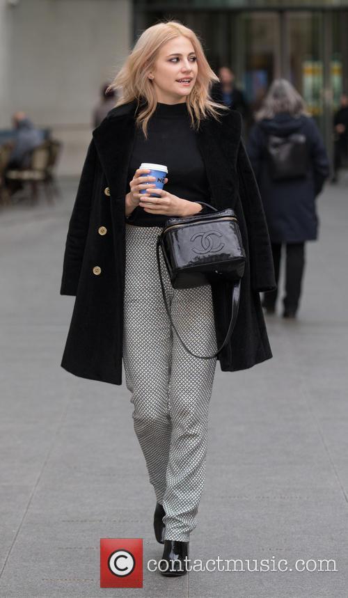 Pixie Lott leaving the BBC studios
