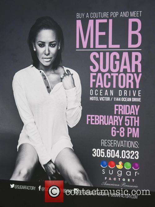 Mel B meet and greet at Sugar Factory...