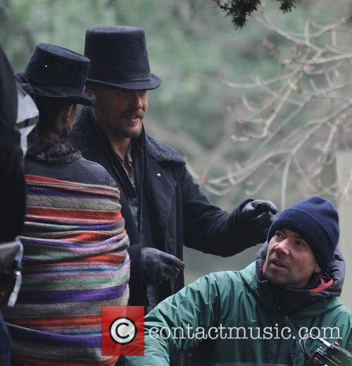 Tom Hardy films scenes for TV series 'Taboo'
