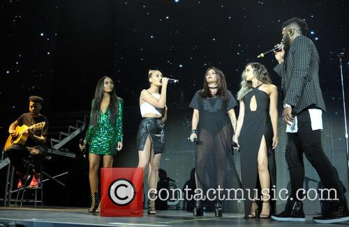 Perrie Edwards, Jesy Nelson, Leigh-anne Pinnock, Jason Derulo and Jade Thirlwall 2
