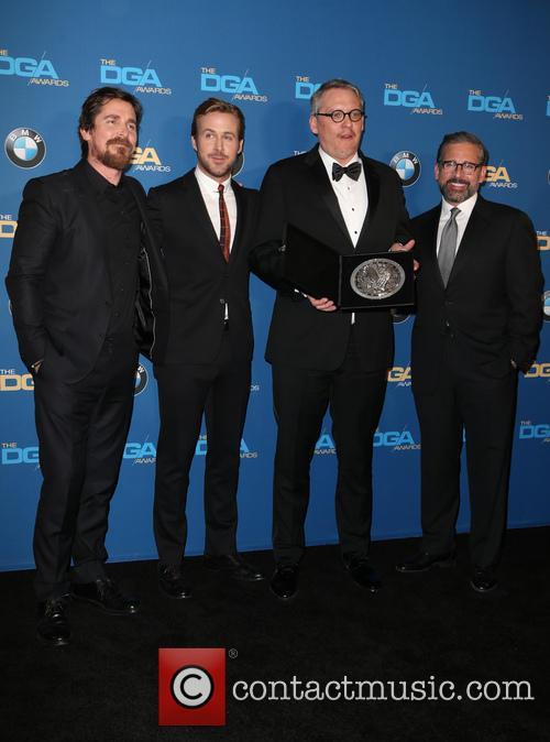 Christian Bale, Ryan Gosling, Adam Mckay and Steve Carrell 2