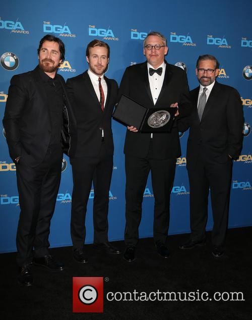 Christian Bale, Ryan Gosling, Adam Mckay and Steve Carrell 3