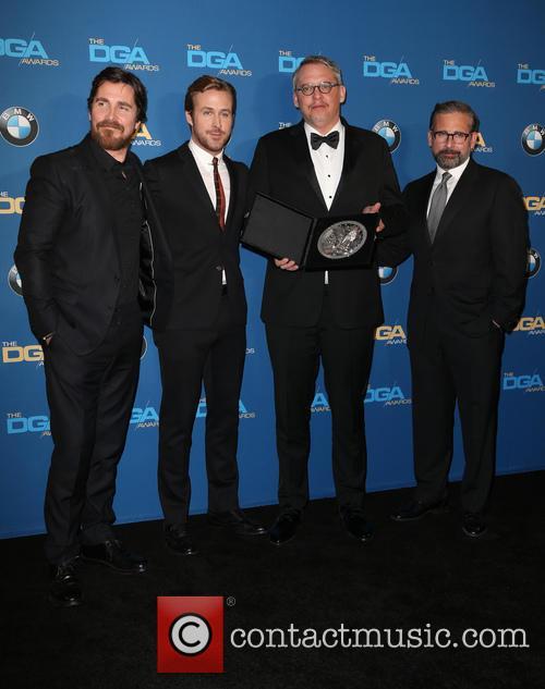 Christian Bale, Ryan Gosling, Adam Mckay and Steve Carrell 4