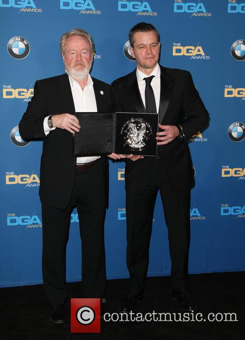 Ridley Scott and Matt Damon 2