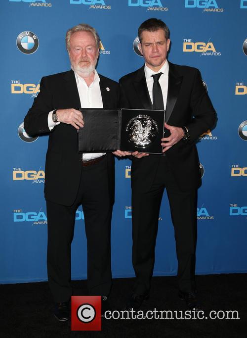Ridley Scott and Matt Damon 3