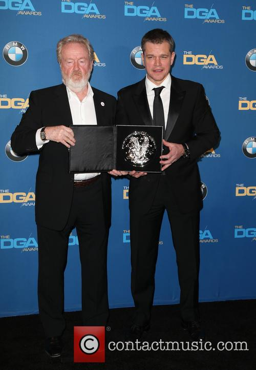 Ridley Scott and Matt Damon 4