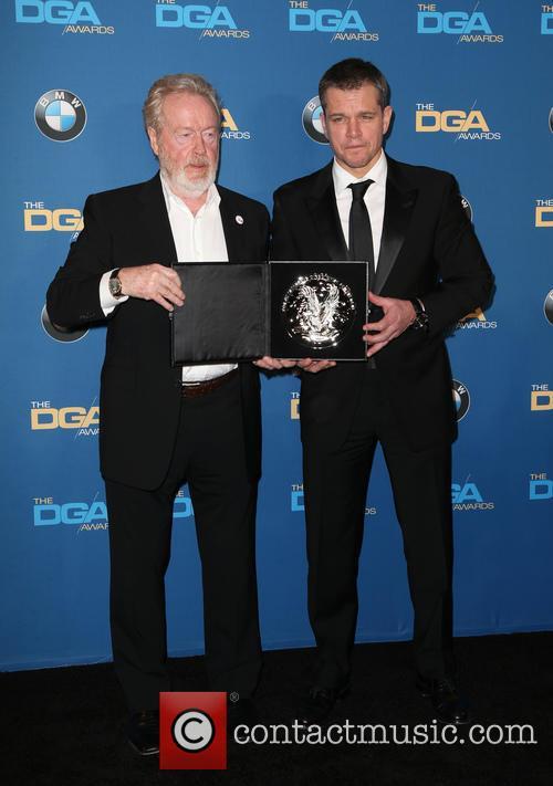 Ridley Scott and Matt Damon 5