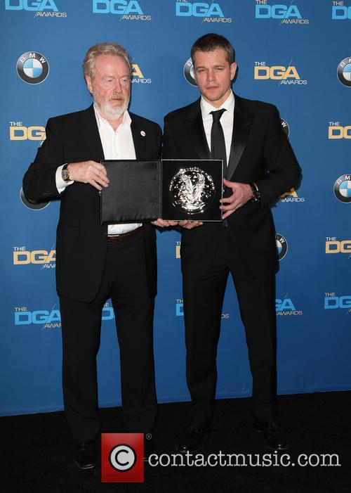 Ridley Scott and Matt Damon 6