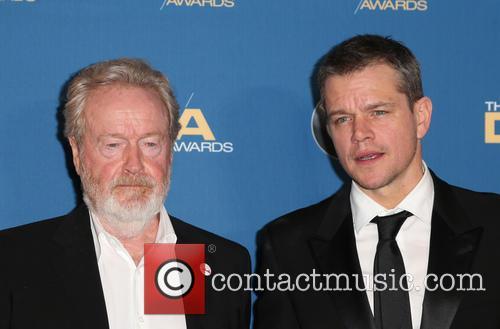 Ridley Scott and Matt Damon 7