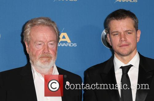 Ridley Scott and Matt Damon 8