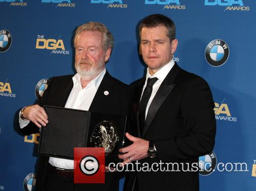 Director Ridley Scott and Matt Damon 1