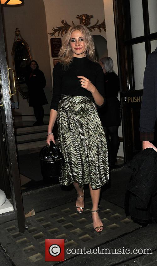 Pixie Lott leaves the Playhouse Theatre after seeing...