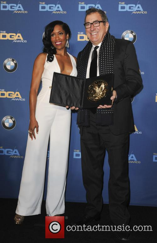 Regina King and Jon Favreau 1