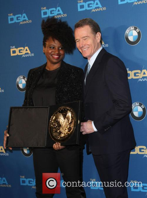 Director Dee Rees and Bryan Cranston 3