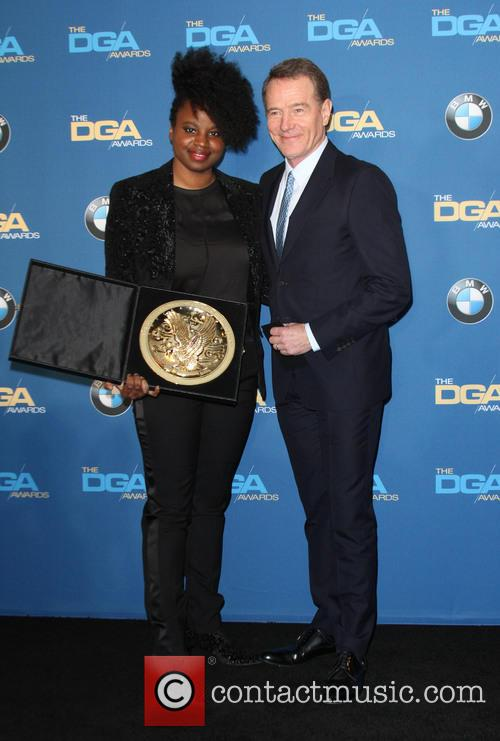 Director Dee Rees and Bryan Cranston 4