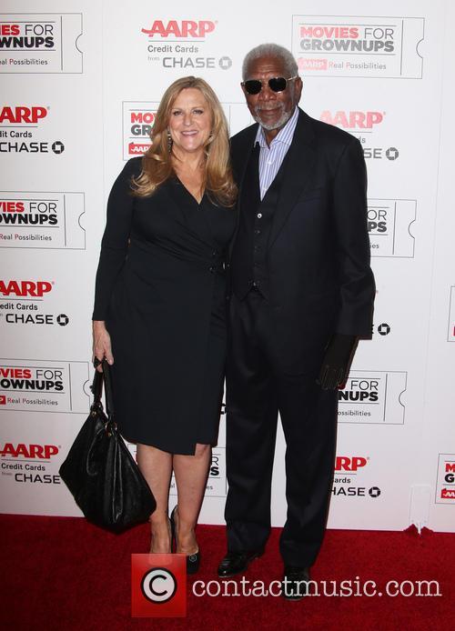 Morgran Freeman and Lori Mccreary