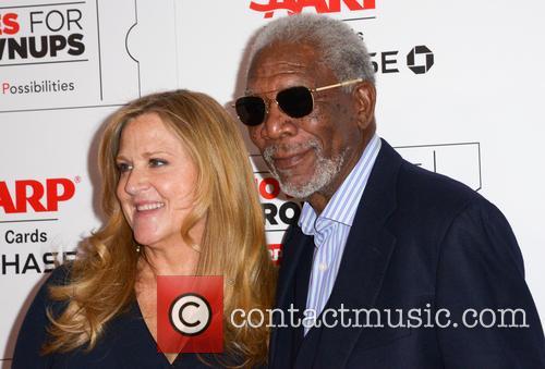 Lori Mccreary and Morgan Freeman 1