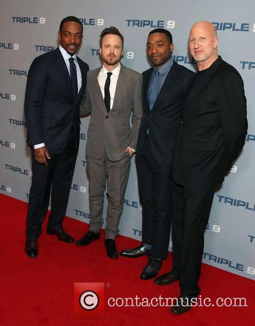 Anchiwetel Ejiofor, Aaron Paul, Anthony Mackie and John Hillcoat 1