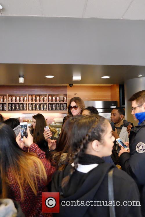 Caitlyn Jenner visits a Starbucks in New York