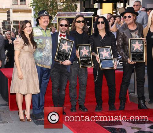 America Ferrera, Carlos Santana, Alex Gonzalez, Sergio Vallin, Juan Calleros and Fher Olvera 5